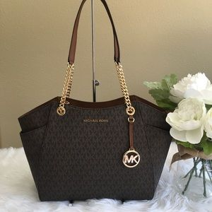 Sale❗️Michael Kors jet large chain shoulder tote